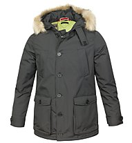 Smiling London Stuff Jacket - Gefütterte Winterjacke Herren, Black