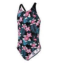 Speedo Junior JungleGlow Splashback Swimsuit - Badeanzug - Mädchen, Pink/Black