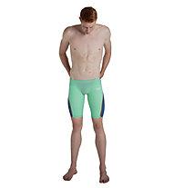 Speedo Fastskin LZR Pure Intent Jammer Race - pantaloncini da triathlon - uomo, Green/Blue