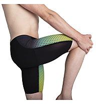 Speedo Fastskin LZR Pure Valor Jammer Race - pantaloncini da triathlon - uomo, Black/Green/Yellow
