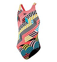 Speedo Junior DazzleSpark Leaderback Swimsuit - Badeanzug - Mädchen, Multicolor