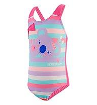 Speedo Koko Koala Crossback Swimsuit - Badeanzug - Mädchen, Multicolor