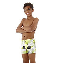 Speedo Mauro Aquashort Jm Schwimmhose Kinder, Black/Lime
