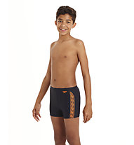 Speedo Monogram Aquashort Badehose Kinder, Navy/Dark Orange