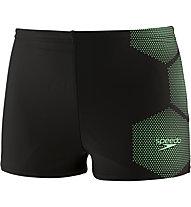 Speedo TECH PLMT ASHT - Badehose - Kinder, Black/Green