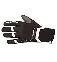 Sportful Guanti softshell da sci di fondo Apex Race Glove, Black/White