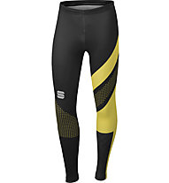Sportful Apex Tight - pantaloni sci di fondo - uomo, Yellow/Black