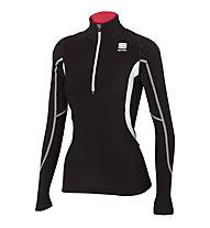 Sportful Cardio Tech Top langärmliges Langlaufshirt für Damen, Black