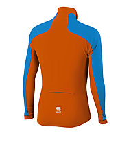 Sportful Cardio Wind Top, Turquoise/Dark Orange