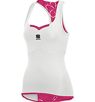 Sportful Charm Top - Maglia Ciclismo, White/Pink
