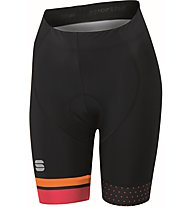 Sportful Diva W Short - Radhose kurz - Damen, Black/Orange