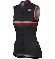 Sportful Diva - top bici - donna, Black/Pink