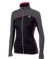 Sportful Engadin W Damen-Langlaufjacke, Black/Pink