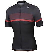 Sportful Frequence Jersey - Radtrikot - Herren, Black/Red