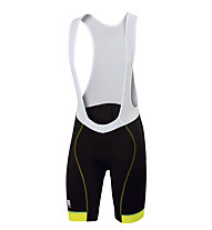 Sportful Pantaloni bici corti con bretelle Giro Bibshort, Black/Yellow