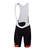 Sportful Pantaloni bici corti con bretelle Giro Bibshort, Black/Red