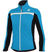 Sportful Softshell - giacca softshell sci di fondo - bambino, Blue/Black