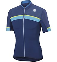 Sportful Pista Jersey - Radtrikot - Herren, Light Blue/Yellow