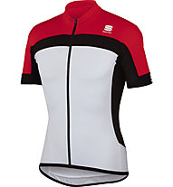 Sportful Pista Longzip Jersey, White/Red