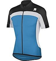 Sportful Pista Longzip Jersey, Blue/Black