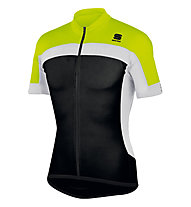 Sportful Pista Longzip Jersey, Black/Yellow