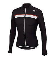 Sportful Pista Long Sleeve Jersey langärmliges Radtrikot, Black/Red