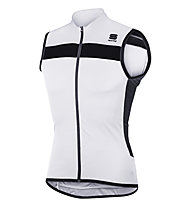 Sportful Pista Sleeveless jersey Top ciclismo, White/Black