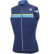 Sportful Pista Sleeveless - Radtrikot ärmellos - Herren, Light Blue/Yellow