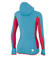 Sportful Rythmo - giacca sci da fondo - donna, Light Blue/Red