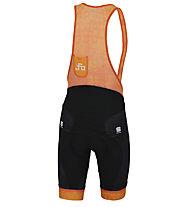 Sportful Sagan Logo Bodyfit Classics - pantaloni bici - uomo, Grey/Orange