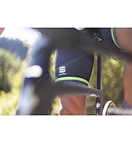 Sportful Sagan Logo Bodyfit Classics - pantaloni bici - uomo, Grey/Green