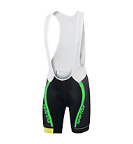 Sportful SC Team Bibshort - Radhose - Herren, Black/Green