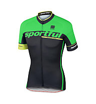 Sportful SC Team Jersey SS - Radtrikot - Herren, Black/Green
