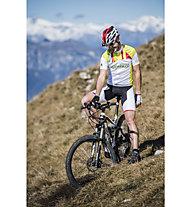 Sportful Pantaloni bici con bretelle Südtirol Bibshort, White/Green