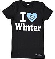 Sportler I Love Winter - T Shirt - Kinder, Black