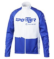 Sportler Sportler Jacket Antiwind - Giacca Ciclismo, White/Blue