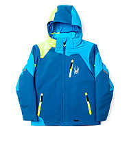 Spyder Boy's Leader Skijacke (2015), Concept Blue/Electric Blue