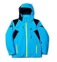 Spyder Boy's Speed Skijacke, Electric Blue/Black