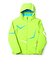 Spyder Girl's Tresh Kinder Skijacke mit Kapuze, Green Flash/Riviera