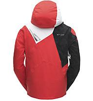Spyder Leader - giacca da sci - uomo, Red/White