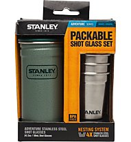 Stanley Adventure Shot Glass  4 x 59 ml Becher-SET, Metal/Green