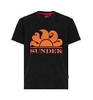 Sundek New Simeon Logo S/S - T-shirt - Herren, Black/Orange