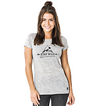 Super.Natural Everyday Print - T-shirt - donna, Light Grey/Black