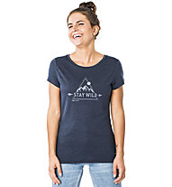 Super.Natural Everyday Print - T-shirt - donna, Dark Blue/Grey