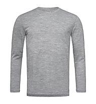 Super.Natural M Base 140 - maglia a maniche lunghe - uomo, Grey