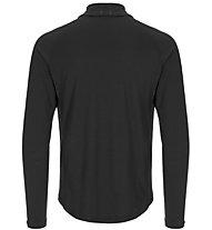 Super.Natural M Base 1/4 Zip 175 - maglia a maniche lunghe con zip - uomo, Black