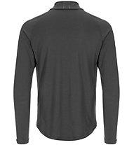 Super.Natural M Base 1/4 ZIP 175 - Funktionsshirt mit 7/8 Reißverschluss - Herren, Dark Grey