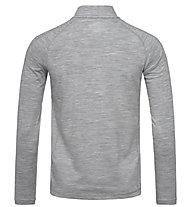 Super.Natural M Base 1/4 Zip 230 - Langarmshirt - Herren, Grey