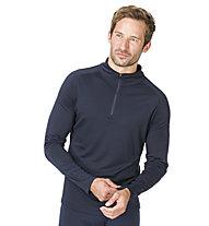 Super.Natural M Base 1/4 Zip 230 - Langarmshirt - Herren, Blue