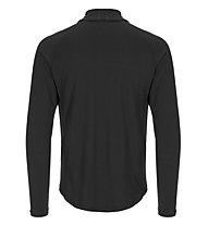 Super.Natural M Base 1/4 Zip 230 - Langarmshirt - Herren, Black